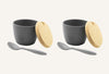 Bamboo Fibre Condiment Bowl - Set Of 2 - Black - Memuro-DINING + KITCHEN-PropShop24.com