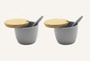 Bamboo Fibre Condiment Bowl - Set Of 2 - Grey - Mori-DINING + KITCHEN-PropShop24.com