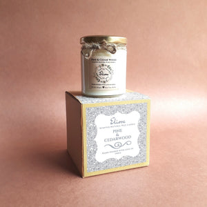 Pine And Cedarwood Scented Natural Wax Candle-CANDLES + AROMA-PropShop24.com