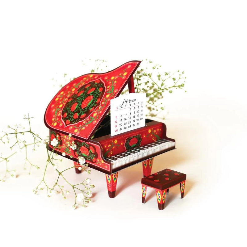 2020 And 2021 DIY Grand Piano - Colorful Red-DESK ACCESSORIES-PropShop24.com