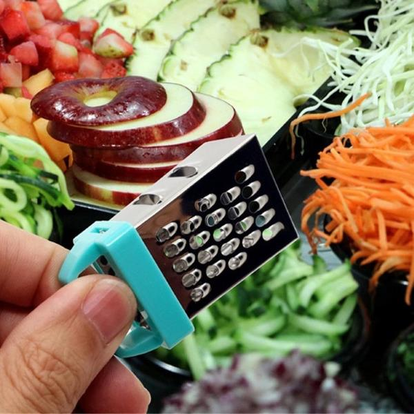 Mini Cheese Grater with Fridge Magnet 4 Sides- Assorted Colour-HOME-PropShop24.com