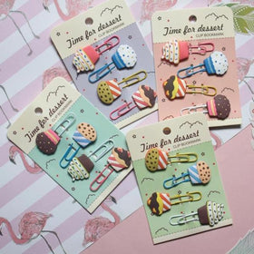 Cupcake Paper Clips - Green-STATIONERY-PropShop24.com