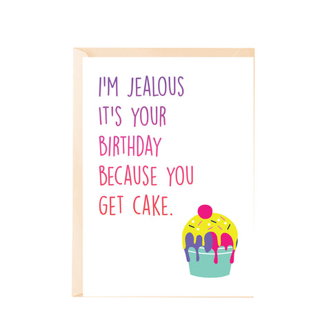 Greeting Card - IÕm jealous itÕs your birthday-Stationery-PropShop24.com
