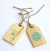 Luggage Tags - Wooden - Set Of 2-TRAVEL ESSENTIALS-PropShop24.com