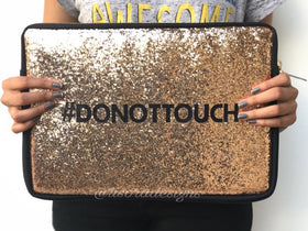 Laptop Sleeve - Glitter - Do Not Touch-Gadgets-PropShop24.com