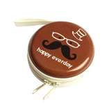 Earphones Coins Hard Zipper Travel Case - Brown-GADGETS-PropShop24.com