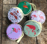 Flamingo Earphones Coins Hard Zipper Case - Set of 2 - Assorted-GADGETS-PropShop24.com