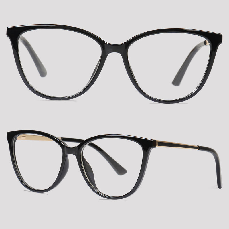 Lille - Black - Far Left Reading Glasses-WOMEN-PropShop24.com