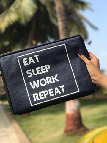 Laptop Sleeve - Eat Sleep Work Repeat-Gadgets-PropShop24.com