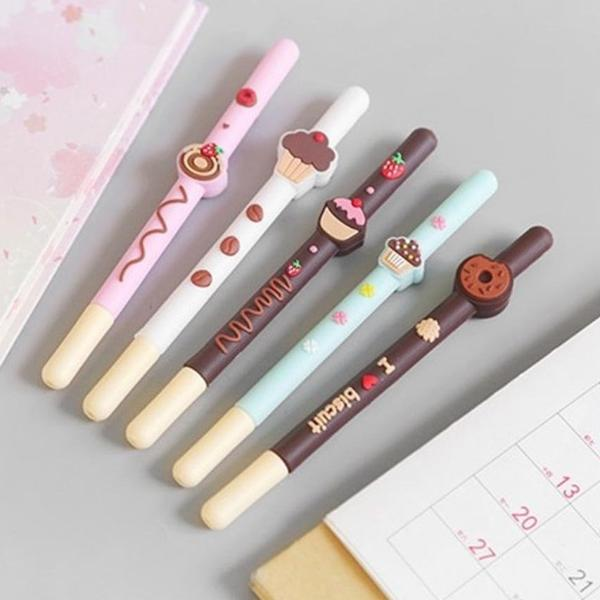 Donut Cupcake Biscuit Ball Pen - Set Of 3 - Assorted-PENS + PENCILS + PAPER CLIPS-PropShop24.com
