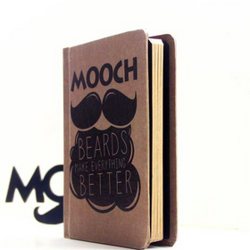 Vintage Notebook - Mooch Beard Makes Everything Better-STATIONERY-PropShop24.com