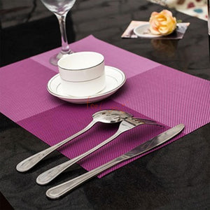 Antislip Table Mats - Checks Pattern - Purple - Set Of 4-DINING + KITCHEN-PropShop24.com