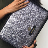 Personalised Laptop Sleeve - Grey Glitter With Crown. C.O.D Not Available-Gadgets-PropShop24.com