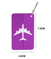 Luggage Tag - Airplane - Metallic Purple-TRAVEL ESSENTIALS-PropShop24.com