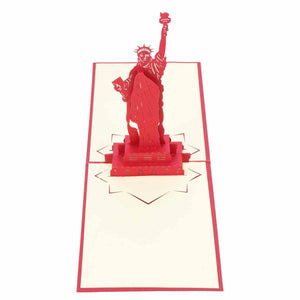 Pop Up 3D Greeting Card - Statue Of Liberty - Red-GREETING CARDS-PropShop24.com