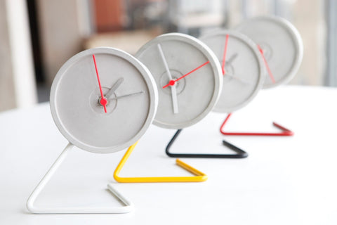 Table Clock - Twistick - Yellow-Stationery-PropShop24.com