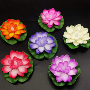LED Floating Candle - Lotus - Set Of 6-CANDLES + AROMA-PropShop24.com