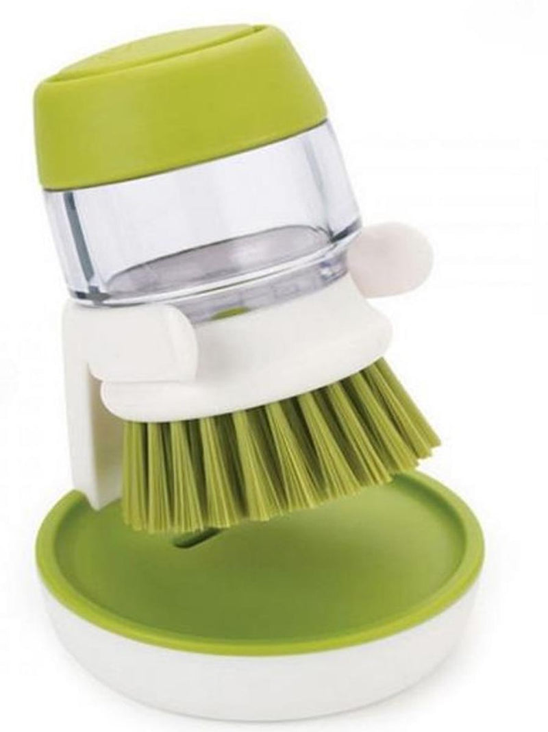 Palm Washing Brush With Liquid Soap Container And Stand-DINING + KITCHEN-PropShop24.com