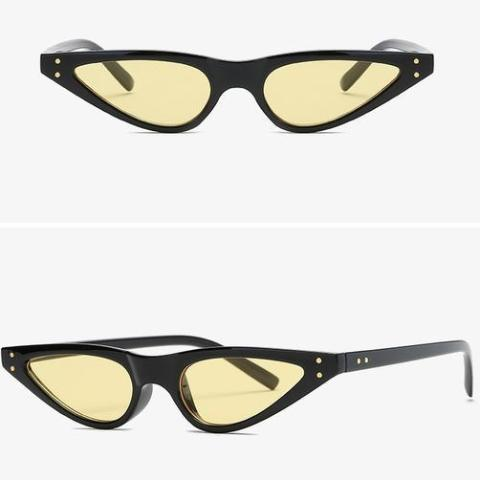 Arrow Cat Eye Sunglasses - Yellow-FASHION-PropShop24.com