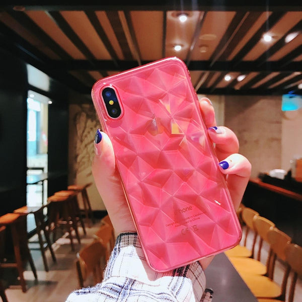 Diamond Phone Case - iPhone X - Clear Red-GADGETS-PropShop24.com