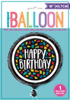 Round Foil Balloon - Colourful Mosaic Birthday-BAR + PARTY-PropShop24.com