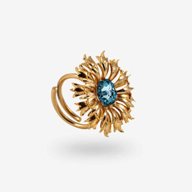FLORAL RING - BLUE-JEWELLERY-PropShop24.com