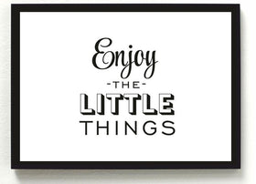 ENJOY LITTLE THINGS frame-Home-PropShop24.com