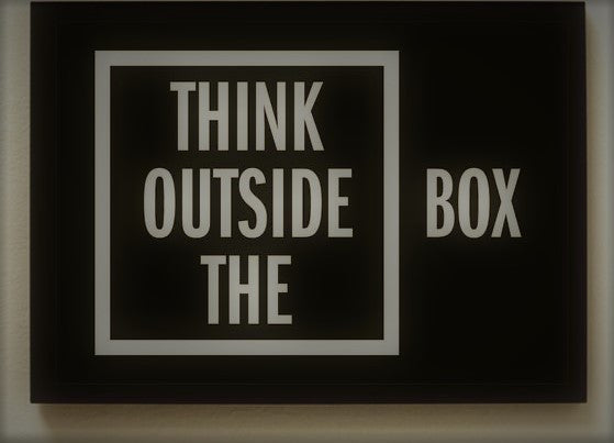 THINK OUTSIDE THE BOX frame-Home-PropShop24.com
