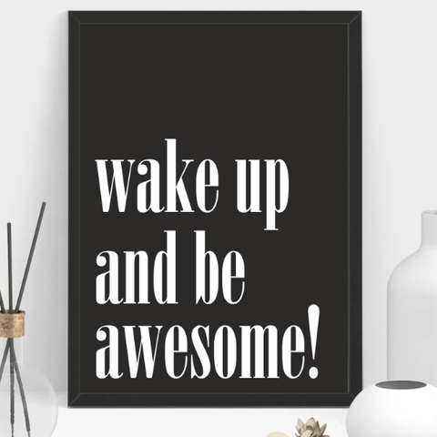 BE AWESOME Frame