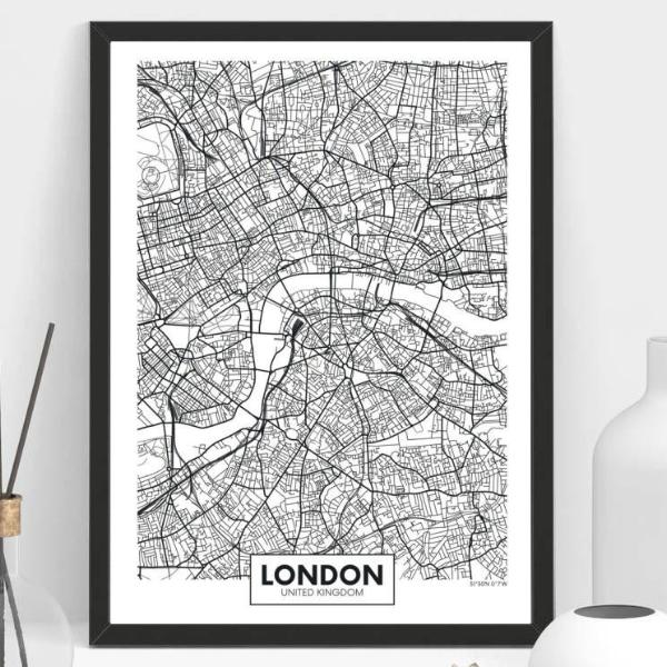 London Map Frame on maps in text, maps in art, maps in home, maps in paintings, maps in paper, maps in wood,