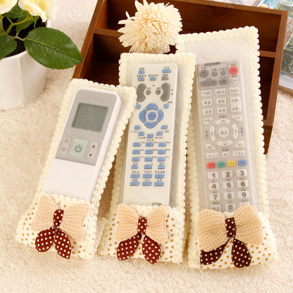 Ac And Tv Remote Cover Set - Cream-HOME ACCESSORIES-PropShop24.com