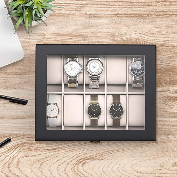 Clear Top Watch Organizer-ORGANIZERS + STORAGE-PropShop24.com