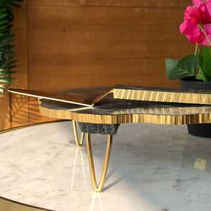 Lava Resin Cake Stand With Server-DINING + KITCHEN-PropShop24.com