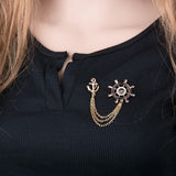 brooch pin - collar - anchor-FASHION-PropShop24.com