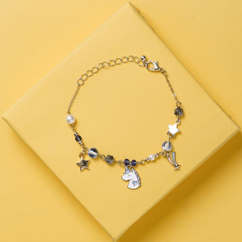 Unicorn Multi Charm Bracelet - Blue Star and Beads-BANGLES + CUFFS + BRACELETS-PropShop24.com