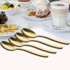Metal Cutlery - Teaspoon - Gold - Set of 4-HOME-PropShop24.com
