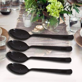 Metal Cutlery - Dinner Spoon - Blackshine - Set of 4-HOME-PropShop24.com