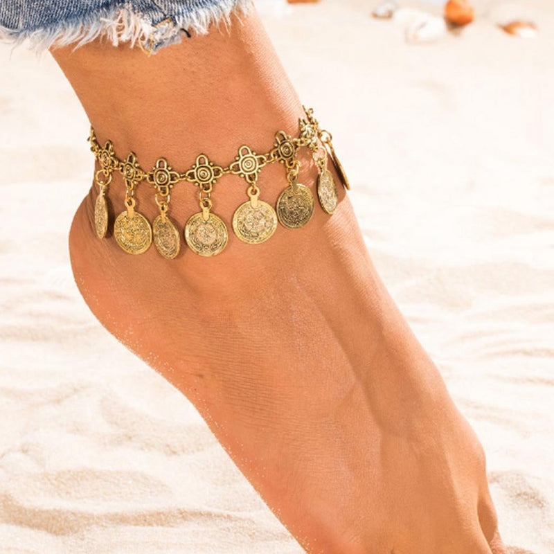 Anklet - Antique Gold Coin-ANKLETS-PropShop24.com