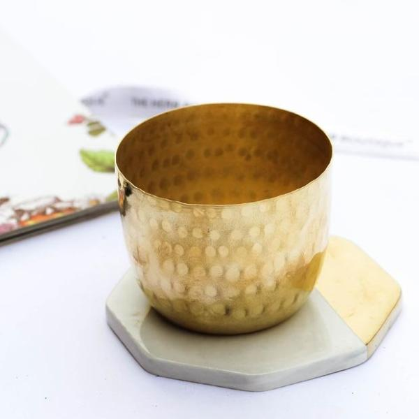 Candle Holder Brass Tea Light Votive-CANDLES + AROMA-PropShop24.com