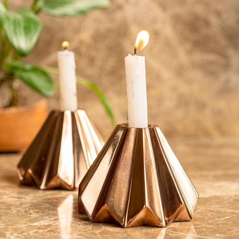 Candle Stand - Rose Gold-CANDLES + AROMA-PropShop24.com