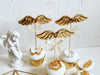 Cake Topper - Gold Angel Wing Cake Toppers - Pack Of 5-BAR + PARTY-PropShop24.com