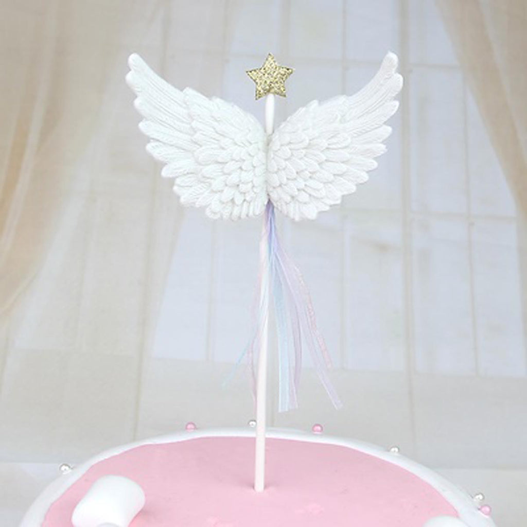 2f4a4491 Cake Topper - White Angel Wing Cake Toppers- Pack of 3 – PropShop24.com