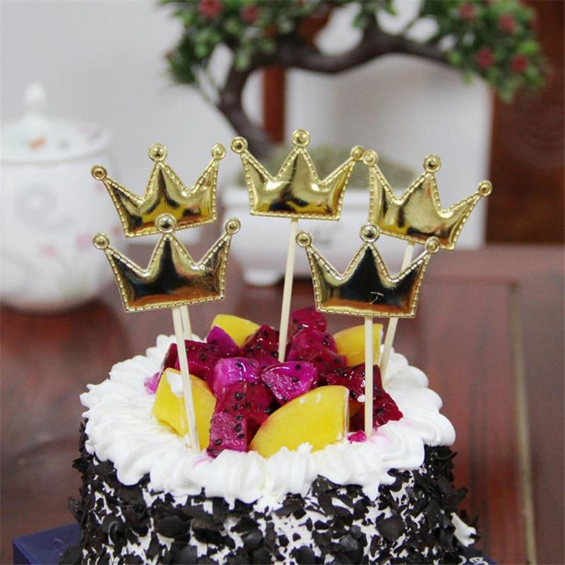 Cake Topper - Mini Crown - Pack Of 5-BAR + PARTY-PropShop24.com