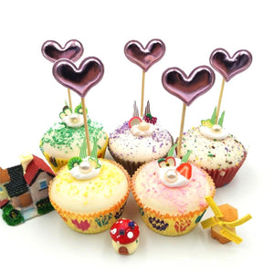 Cake Topper - Mini Hearts - Pack Of 5-BAR + PARTY-PropShop24.com