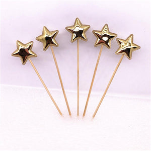 Cake Topper - Mini Stars - Pack Of 5-BAR + PARTY-PropShop24.com