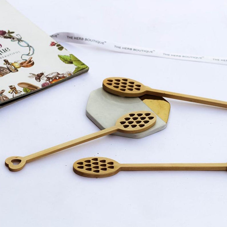 Wooden Honey Dipper - Royal Stick - Pack Of 5-DINING + KITCHEN-PropShop24.com