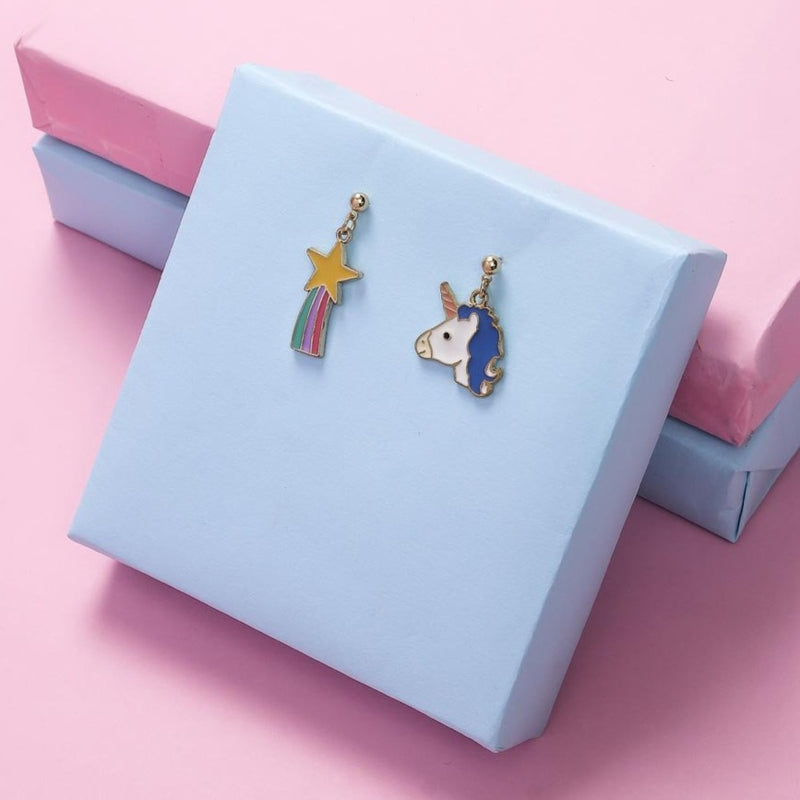 Earrings - Unicorn And Rainbow Star-EARRINGS-PropShop24.com