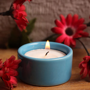 Festive Tea Light Diya - Blue-HOME-PropShop24.com