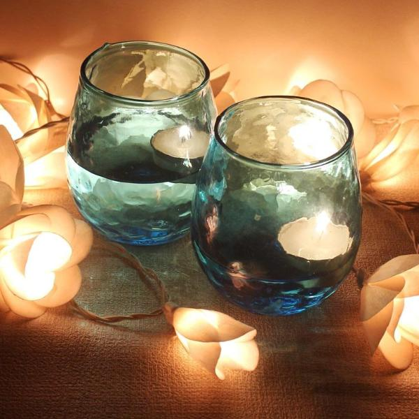 Aqua T Light Votive - Set of 2-HOME-PropShop24.com