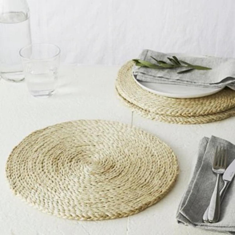 Jute Round Placemats - Set Of 4-DINING + KITCHEN-PropShop24.com